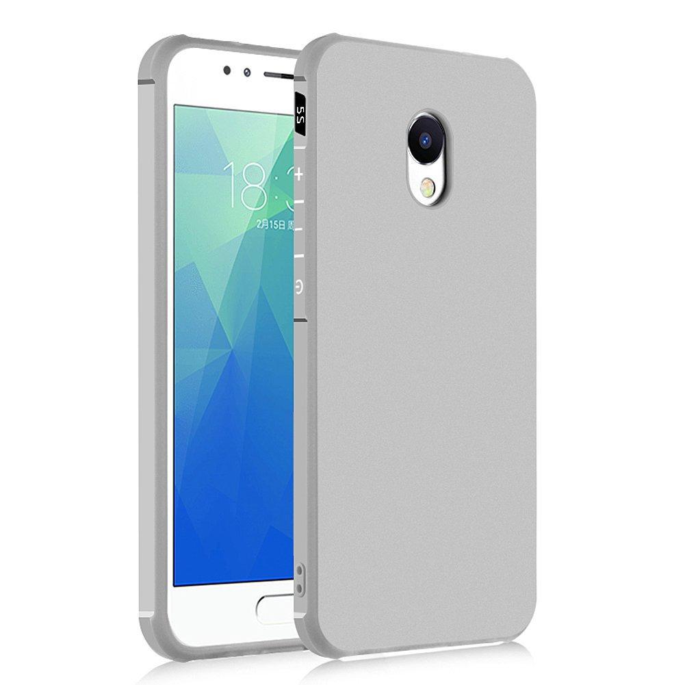 Hevaka Blade Meizu M5S Funda - Suave Silicona TPU Carcasa Smart Case Cover Para Meizu M5S - Gris