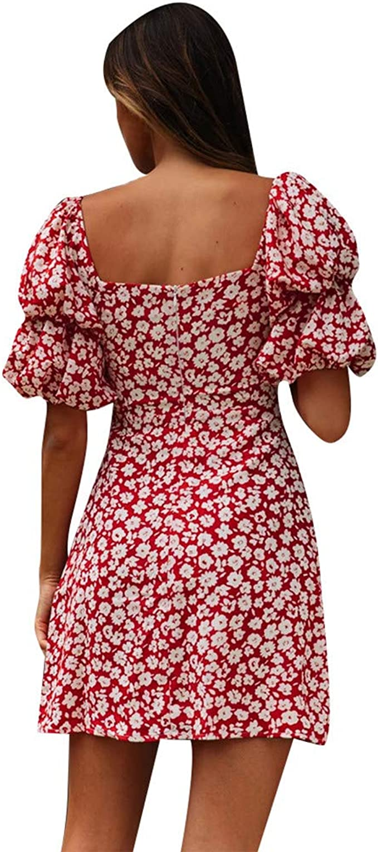 Yesgirl Boho Summer Dress Mujeres Casual Suelta De Manga Corta con Estampado De Calavera Vestido Streetwear Side High Split De T/única Femenina Maxi
