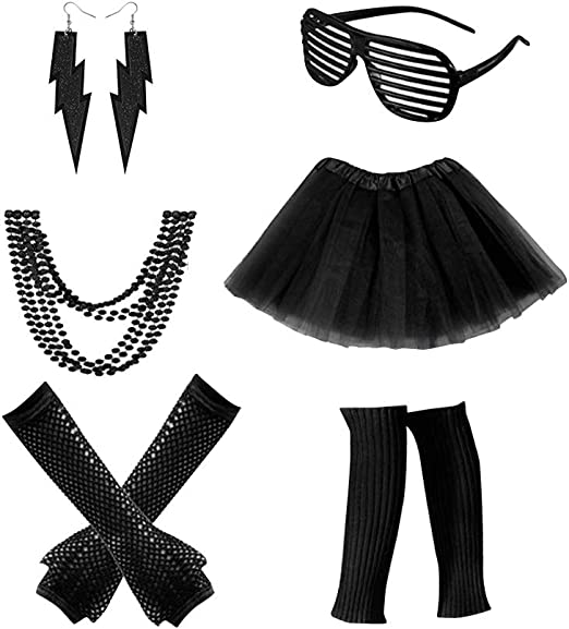 STOBOK Set de disfraz de punk para niños con arete de rayo ...