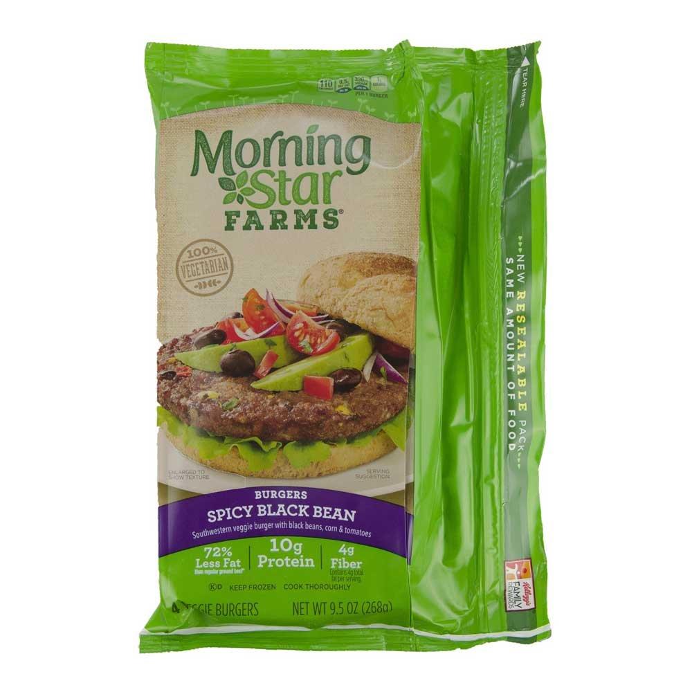 Morningstar Farms Spicy Black Bean Veggie Burgers 95 Ounce 8 Per
