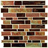 RoomMates Modern Long Stone Peel and Stick Tile Backsplash,...
