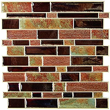 RoomMates Modern Long Stone Peel and Stick Tile Backsplash, 4-pack ...