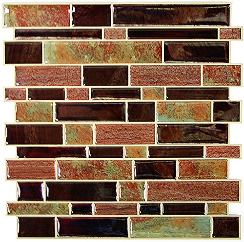 Modern Long Stone Peel And Stick Tile Backsplash, 4-pack 10.