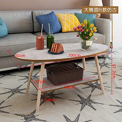 Oak Oval Magazine Rack - D&L Solid Wood Waterproof Side Table, Vintage Oval Sofa Table Bedroom Night Table Coffee Table Modern Simple Telephone Table-H 100x51.2cm