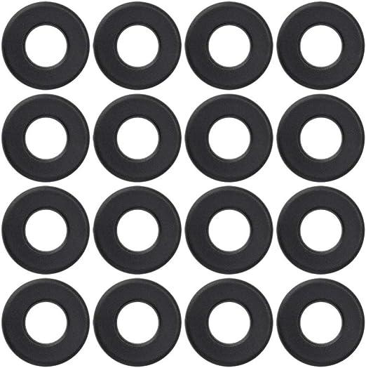 LIOOBO 16 Piezas Arandelas de futbolín de Mesa Negro Accesorios de máquina de futbolín de plástico práctico Duradero Arandelas de PVC para reemplazo de fútbol de Mesa Negro: Amazon.es: Deportes y aire