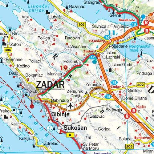 Croacia, mapa de carreteras. Escala 1:500.000. Freytag & Berndt ...