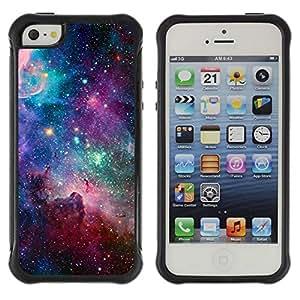 Suave TPU GEL Carcasa Funda Silicona Blando Estuche Caso de protección (para) Apple Iphone 5 / 5S / CECELL Phone case / / sky universe stars cosmos nebula teal /