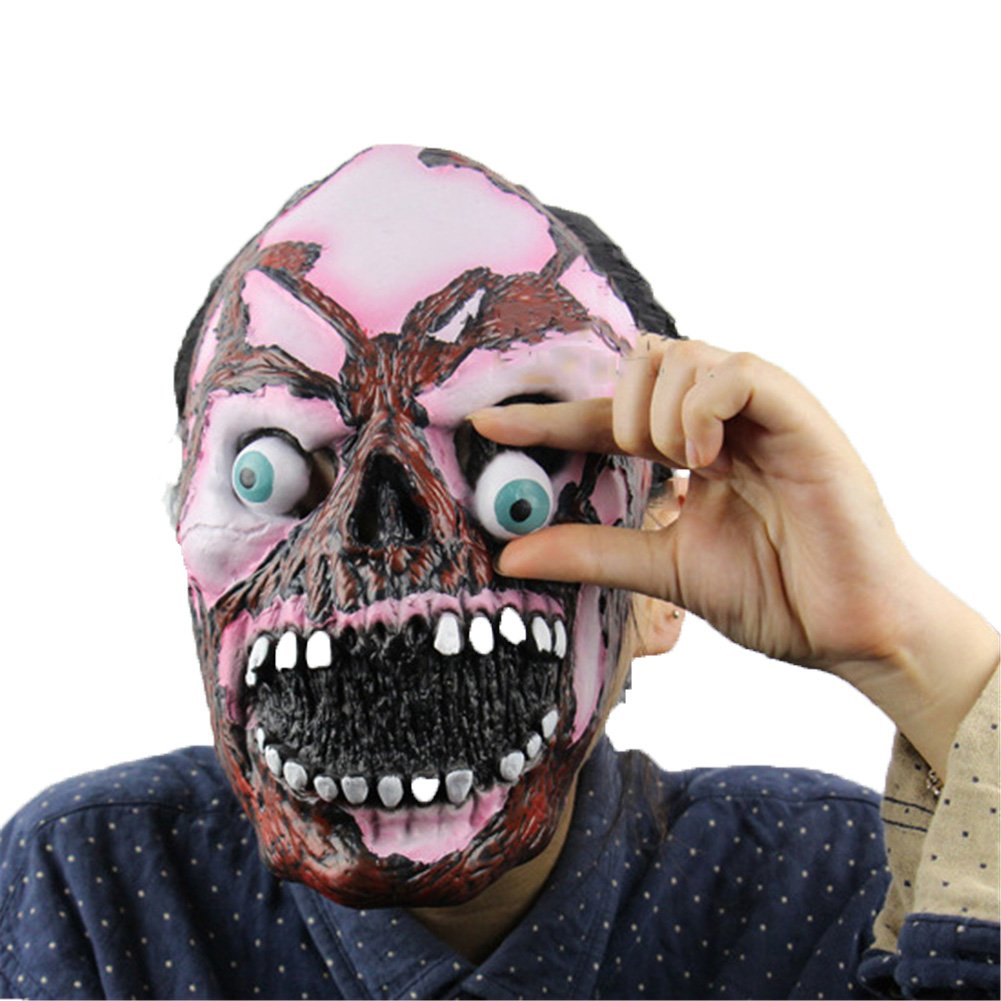 DELIFUR Monstrous Mask Halloween Masquerade Costume Prop Latex Masks Cosplay Party Small Eye Funny Props Headgear by