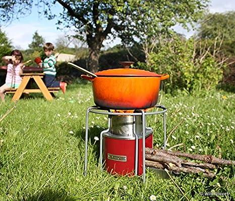 EzyStove - Hornillo de acampada (funciona con madera) Estufa cohete.: Amazon.es: Deportes y aire libre