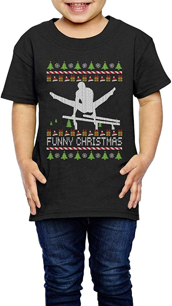 Parallel Bars Funny Christmas 2-6 Years Old Boys /& Girls Short-Sleeved T-Shirt