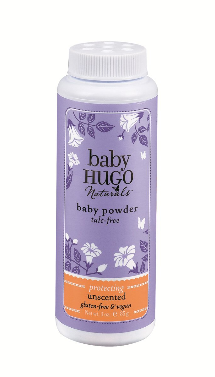 Hugo Naturals Baby Powder, Shea Butter, 3 Ounce Bottle, (Pack of 2) by Hugo Naturals