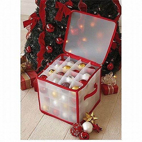 CHRISTMAS TREE 64 BAUBLE DECORATIONS STORAGE BOX BRAND NEW by TJM