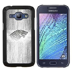 Caucho caso de Shell duro de la cubierta de accesorios de protección BY RAYDREAMMM - Samsung Galaxy J1 J100 - Lobo Sigil