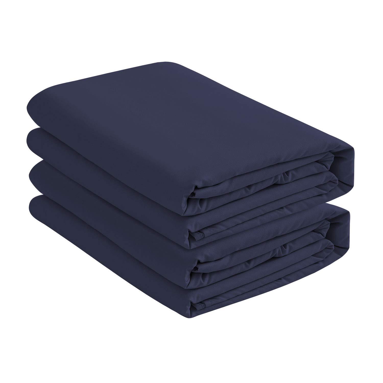 ベーシックチョイス(2パックディープポケットベッドフィットシーツ/ボトムシーツ クイーン ブルー B07Q58WHD1 ダークブルー クイーン