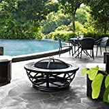 Crosley Glendale Round Slate Firepit, Black For Sale