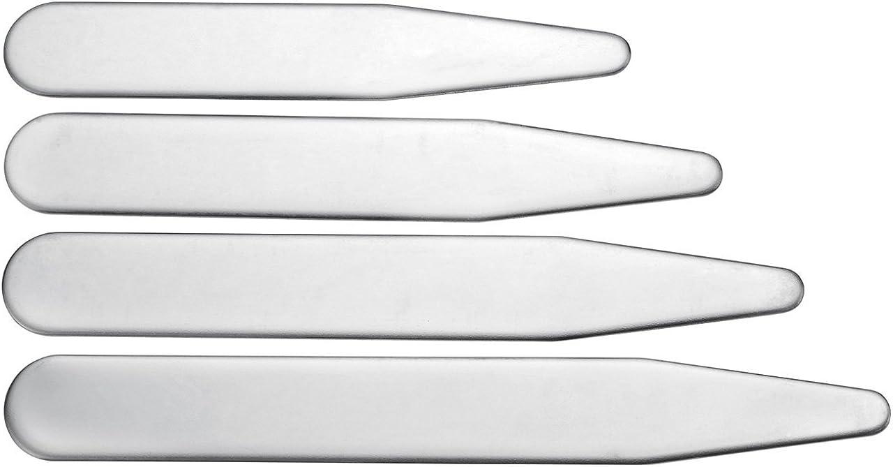 PiercingJ 40PCS//36PCS Baleine Col Collar Chemise Collar Stays Collier Sejours en Metal Plusieurs Tailles dans Un Box Divise