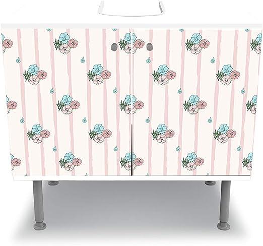 wandmotiv24 Armoire de Toilette Exotiques Fleurs Roses et ...