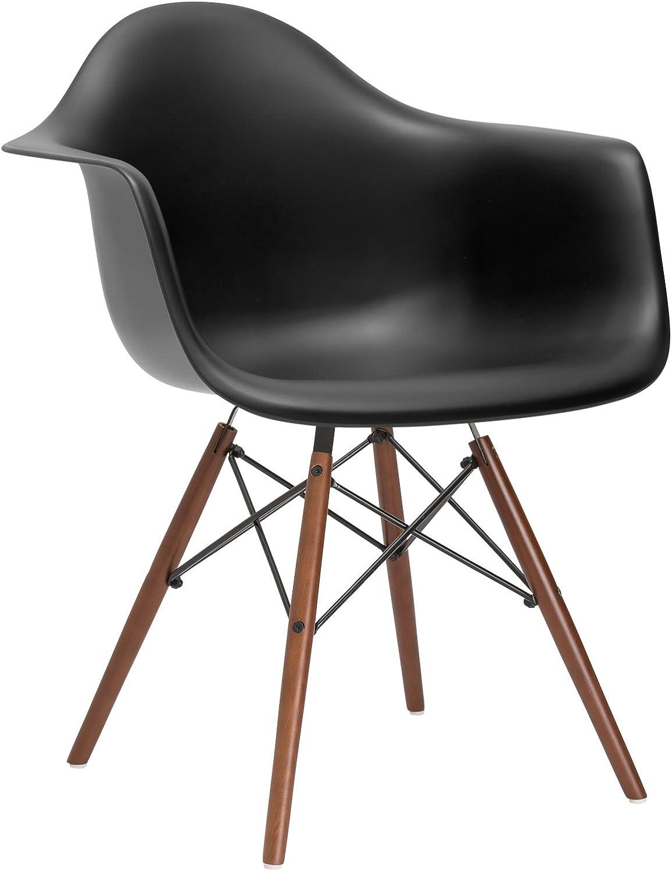 Poly and Bark Vortex Arm Chair Walnut Leg Harbor Grey