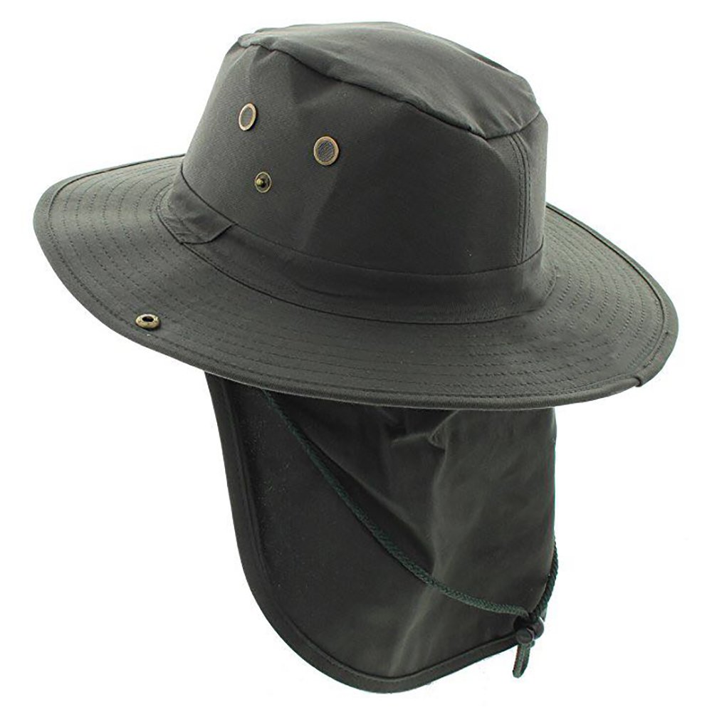 Military Camouflage Boonie Bush Safari Outdoor Fishing Hiking Hunting Boating Snap Brim Hat Sun Cap with Neck Flap by S And W
