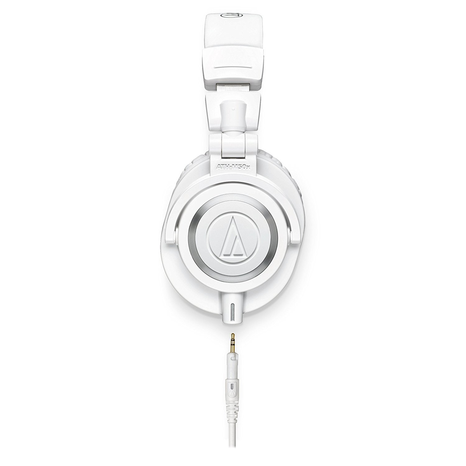Audio-Technica ATH-M50x Professional Monitor Headphones (White) + Tekline Active Replacement Cable + Headphone Case by K&M (Image #3)