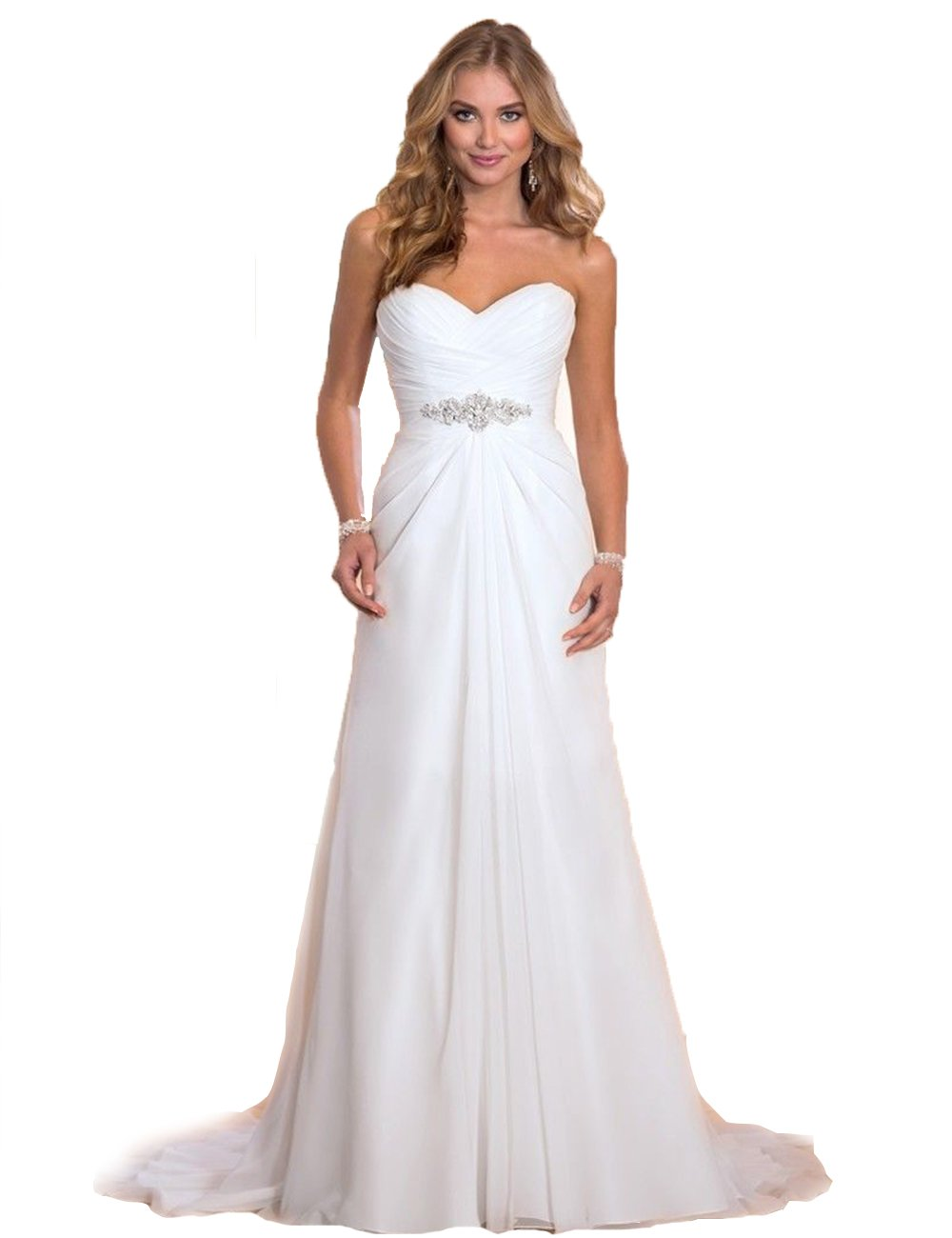 Elegantes Brautkleid TRAUM Hochzeitskleid A-Linie Gr. 34 36 38 40 42 ...