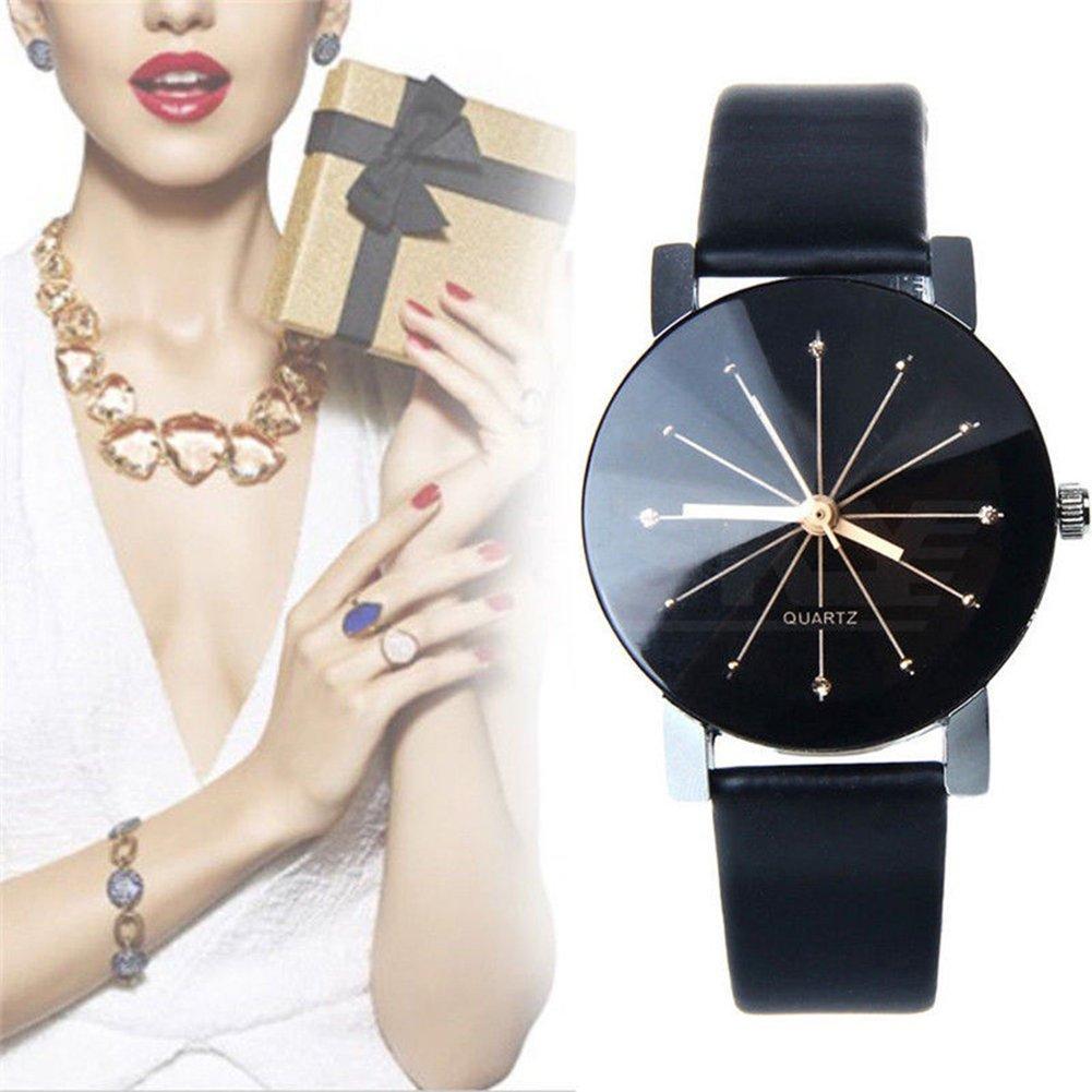 Amazon.com: GlobalDeal 2 Pcs Unisex Black Pair Watches,Watches For Couple Lovers Mens Lady Women Black Quartz Wrist Watch: Cell Phones & Accessories