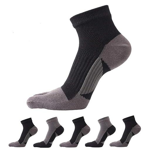 b3c9df8fa6ffe Amazon.com: Toe Socks Five Finger Socks Mini Crew Athletic Running ...