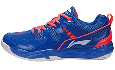 41cbd011008 LI-NING Men Badminton Shoes Wearable Breathable Soft Lightweight Sports  Shoes Blue AYTM069 US 7