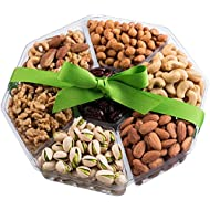 Holiday Nuts Gift Basket | Large 7-Sectional Delicious Variety Mixed Nuts Prime Gift | Healthy Fresh Gift Idea For Christmas, Easter, Mothers & Fathers Day, And Birthday