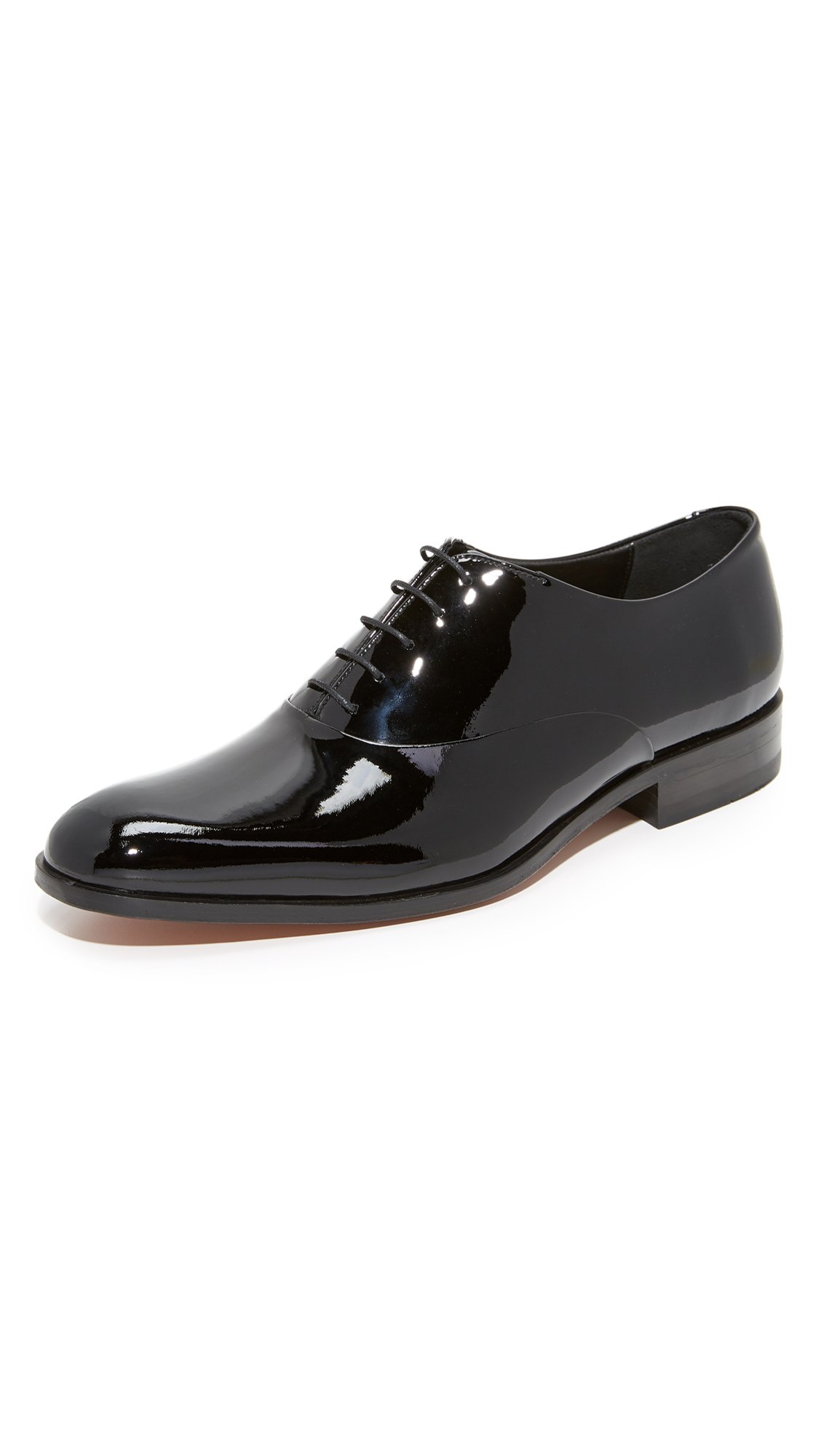 Loake Lifestyle Men's Patent Leather Oxfords, Black, 12 UK (13 D(M) US Men)