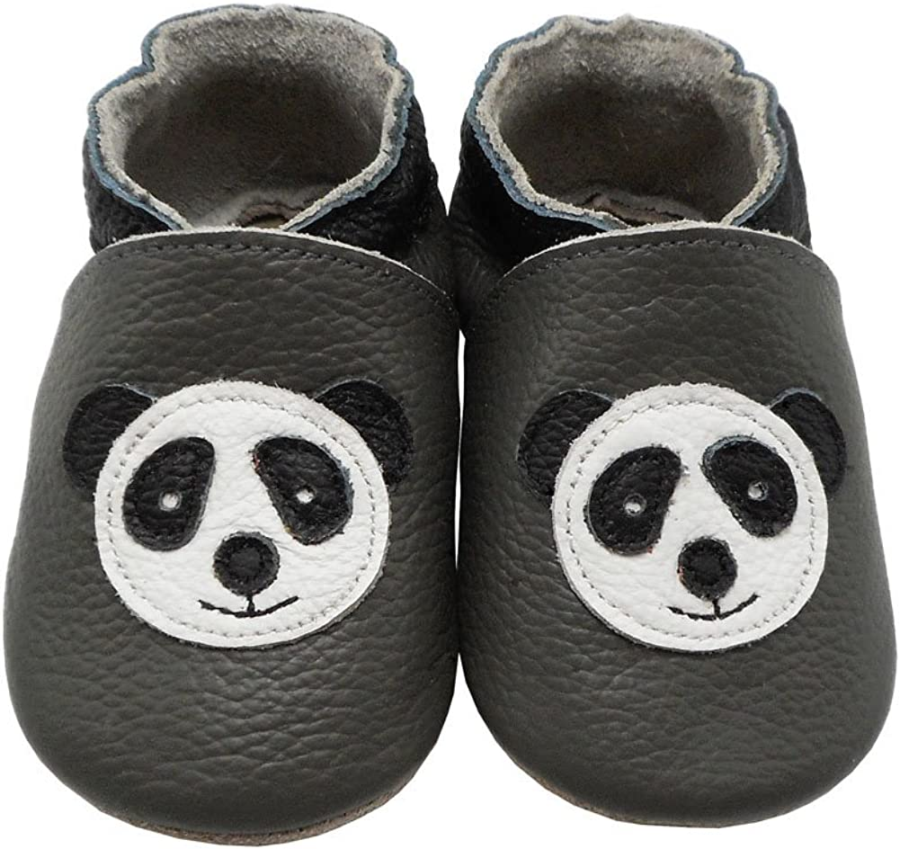 YIHAKIDS Baby Moccasins Genuine Leather Infant Toddler Moccsin with Soft Sole