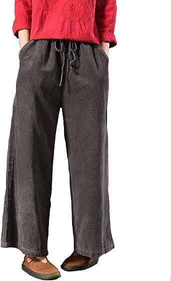 Femme À Enfiler Cordon Pantalon