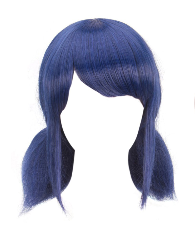 DAZCOS Blue Lady Bug Girl Cosplay Wig with Tails [ Adult/Child ] (Blue)