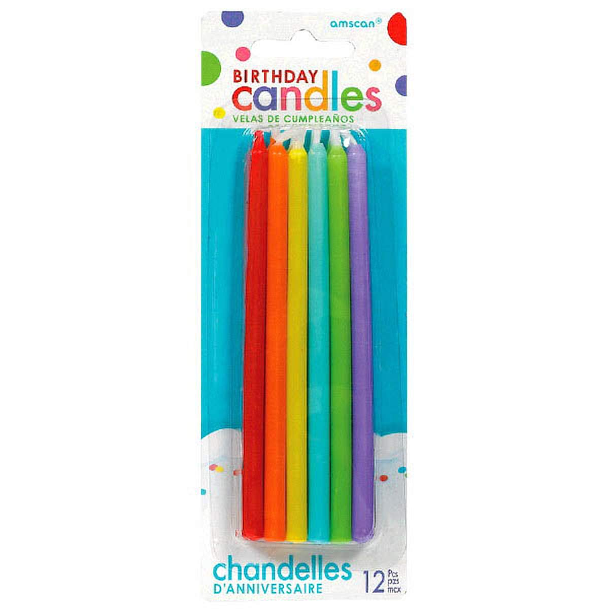 Amazon.com: Assorted Colors Birthday Candles | Party Supply ...