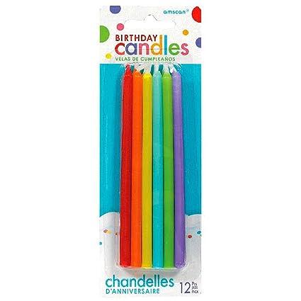Amazon.com: Surtido de velas de cumpleaños de varios colores ...