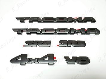 6PCS BLACKOUT EMBLEM OVERLAY KIT FIT FOR 2016-2020 TOYOTA TACOMA LIMITED V6 4X4