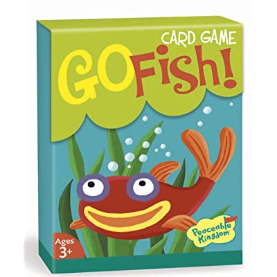 Peaceable Kingdom Go Fish! Classic Card Game for Kids - 48 Cards with Gift Box: Toys & Games