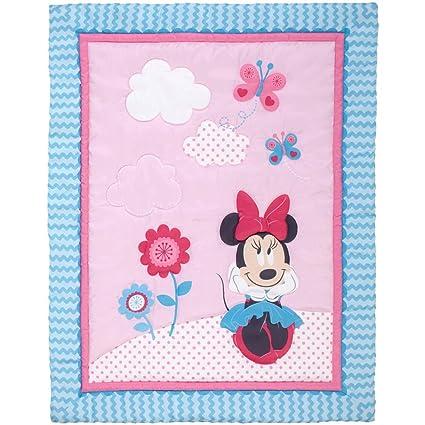 4 piezas azul rosa rojo bebé niñas Minnie Mouse juego de cama de ...