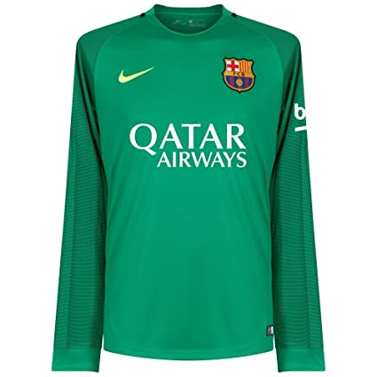 new style e9e93 24366 Amazon.com : Nike Barcelona L/S Goalkeeper Jersey 2016/2017 ...