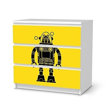 Möbeldeko Jugendzimmer für IKEA Malm 3 Schubladen   Klebefolie ...