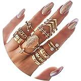 CSIYAN 6-16 PCS Knuckle Stacking Rings for Women Teen Girls,Boho Vintage Stackable Midi Finger Rings Set