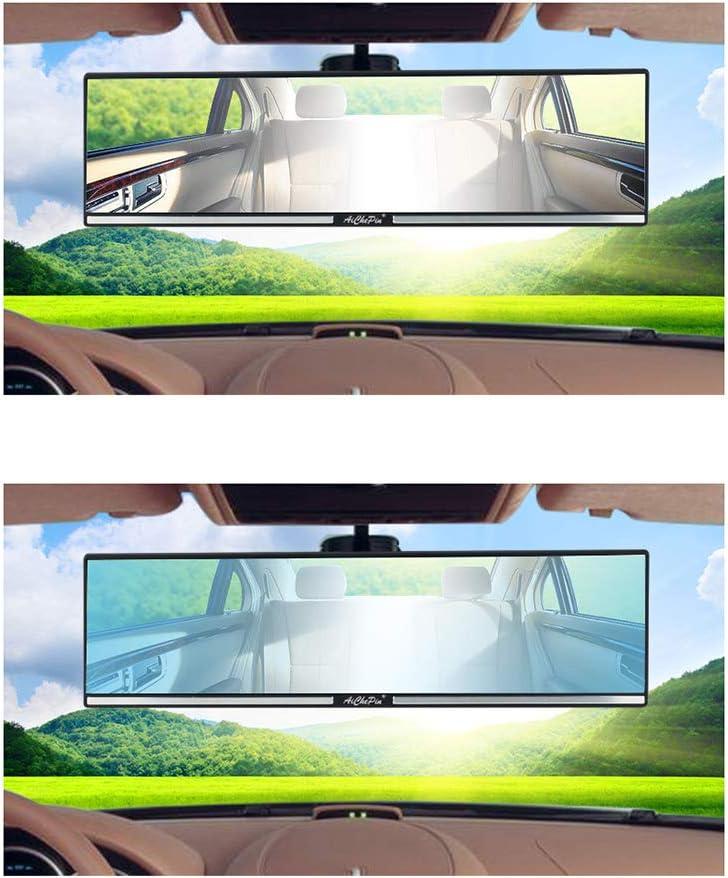 LIOOBO Specchietto retrovisore per Auto Universale Visibile a grandangolo panoramico antiabbagliante Interno Specchio Curvo con Ampia Visione