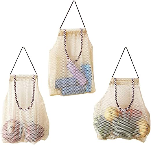 Hihey Vegetable Bag Fruit Hanging Mesh Storage Bags For