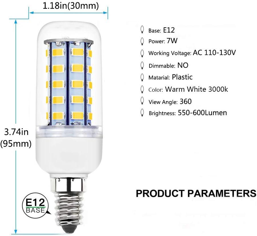 7-25W 5730SMD Luz de maiz E27 LED Bombilla Lampara de techo Blanco cálido//frío