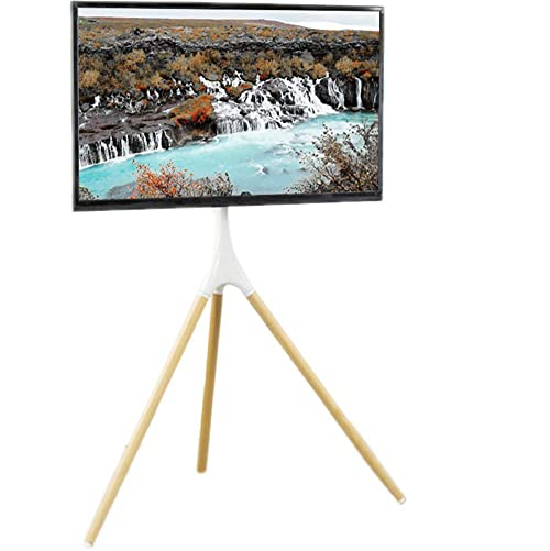 VIVO White Artistic Easel 45 to 65 inch LED LCD Screen Studio TV Display Stand Adjustable TV Mount with Swivel and Tripod Base STAND-TV65AW