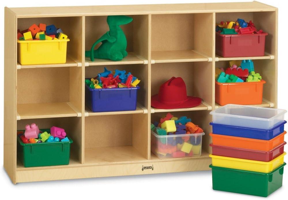 Amazon Com 12 Compartment Cubby Bin Color Clear Furniture Decor