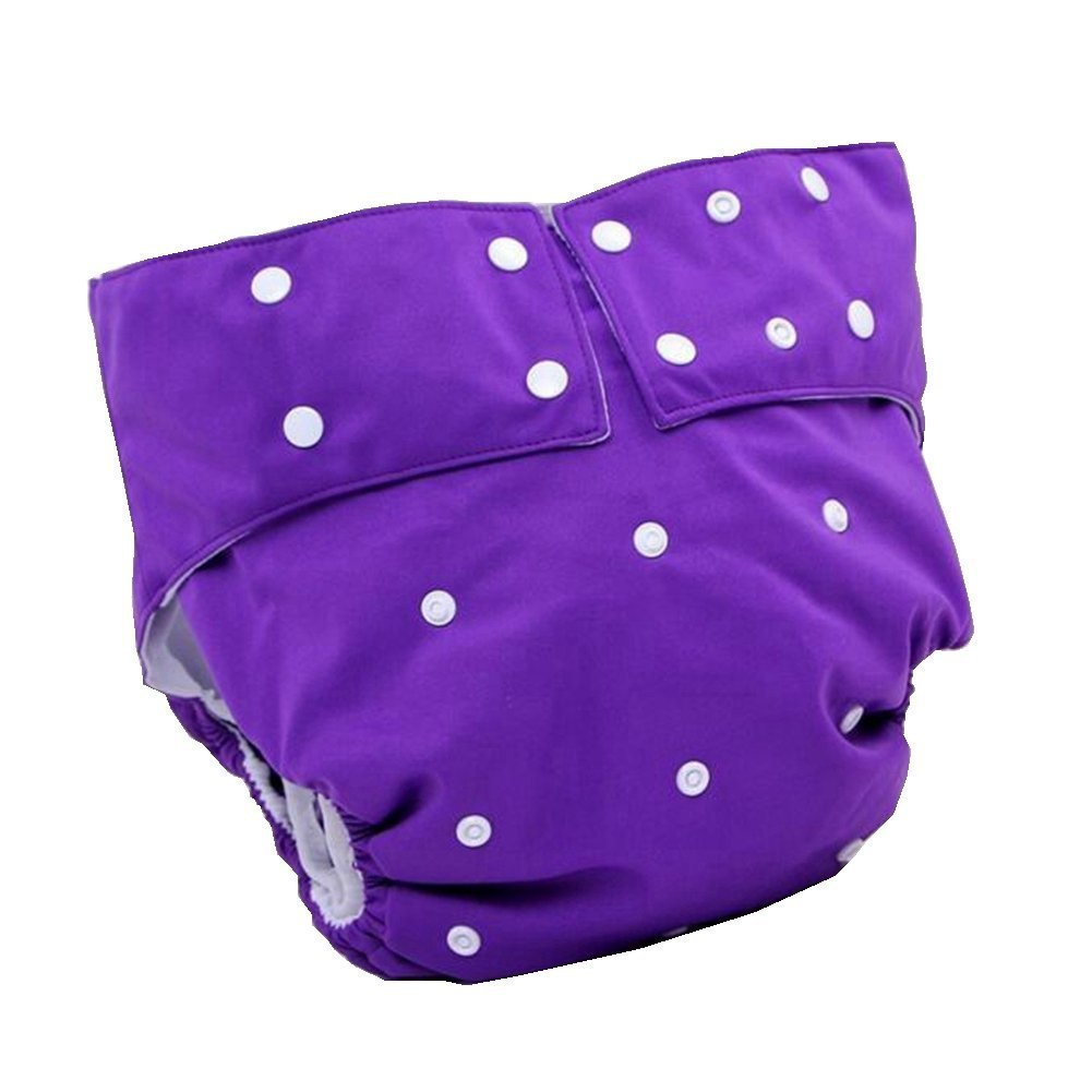 LukLoy - Teen / Adults Cloth Diapers with 2pcs Inserts for Incontinence Care -Dual Opening Pocket Washable Adjustable Reusable Leakfree (Purple) Shenzhen M-Home Co. Ltd W-D1322