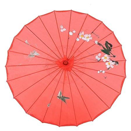Fdit - Paraguas de Papel Pintado a Mano para decoración de ...