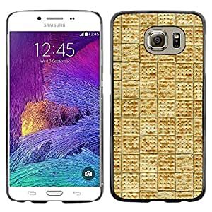 LECELL--Funda protectora / Cubierta / Piel For Samsung Galaxy S6 SM-G920 -- Tile Pattern Cracker Cookie Food --