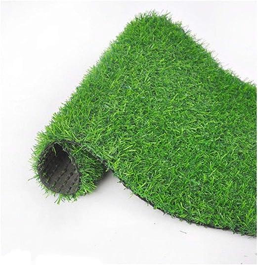 Césped Ping Artificial Altura del Pelo de Hoja perenne 20 mm con Agujero de Fuga Alfombra sintético Verde Natural jardín Realista 5 tamaños (Size : 2m×5m): Amazon.es: Hogar